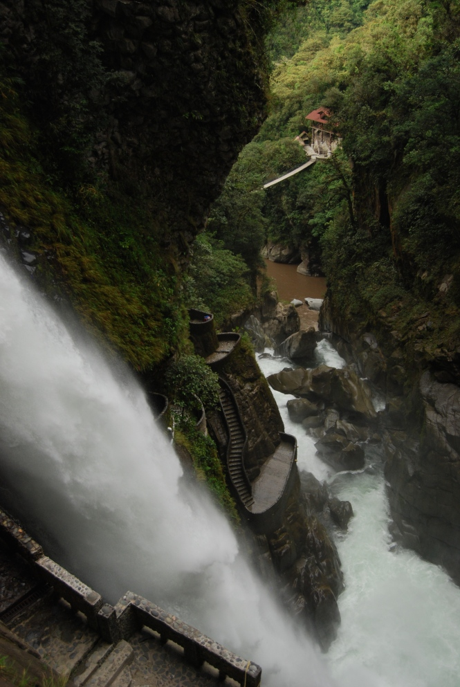 Waterfalls in Baños.
