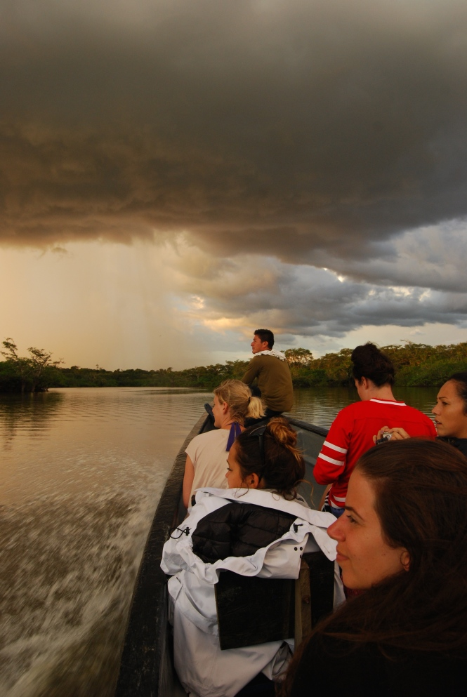 On the Cuyabeno river in the Amazon